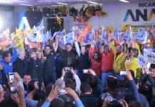 """El precandidato de la coalición """"Por México al Frente"""" Ricardo Anaya Cortés, en su visita en Huixquilucan"""